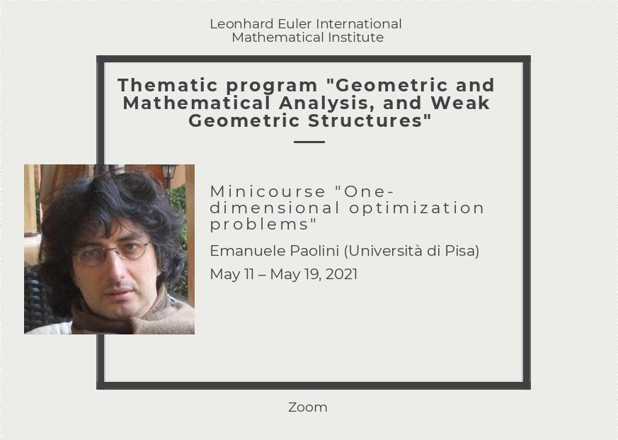 "Minicourse ""One-dimensional optimization problems"""